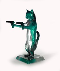 Rebel With The Paws (Green Dragon) by Maxim - Original Sculpture sized 12x17 inches. Available from Whitewall Galleries